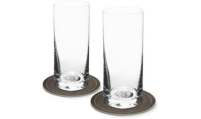 Contento Longdrinkglas, (Set, 4 tlg., 2 Longdrinkgläser und 2 Untersetzer), Löwe, 400... kaufen