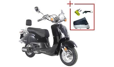 Alpha Motors Motorroller »Retro Firenze«, 7,5 PS, 125 ccm, 80 km/h, schwarz kaufen