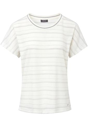 Basler T - Shirt in unifarbenem Design mit Strukturstrick kaufen