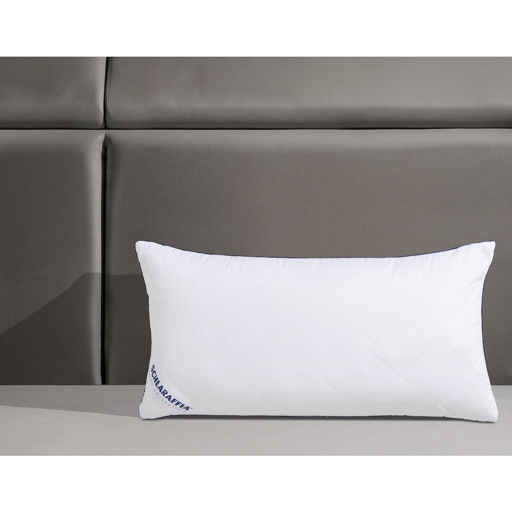 Schlaraffia Microfaserkissen »Relax«, Bezug: 100% Baumwolle, (1 St.), insbesondere für hygienebewusste Schläfer geeignet