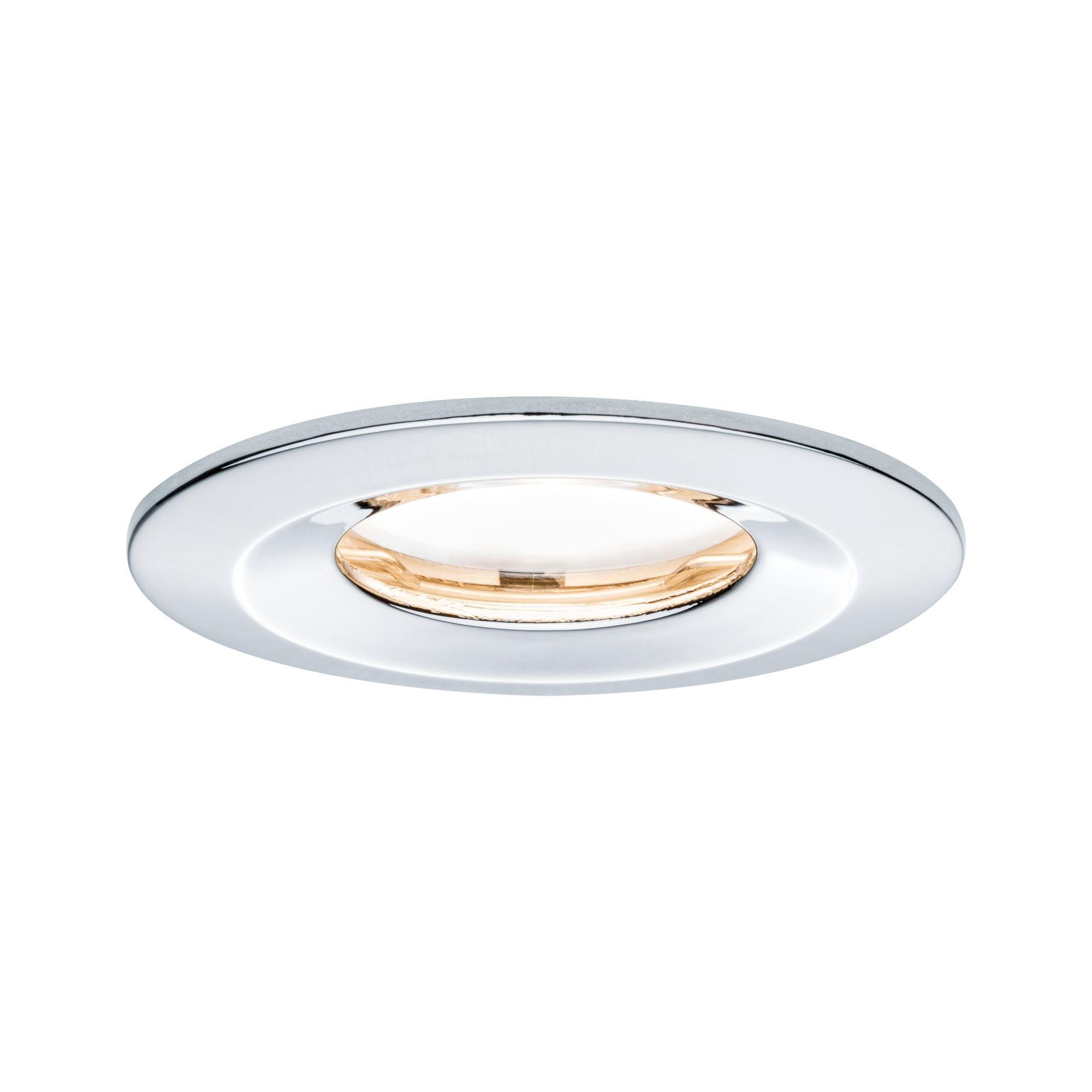 Paulmann LED Einbaustrahler dimmbar IP65 rund Chrom Coin Slim 6,8W, 1 St., Warmweiß
