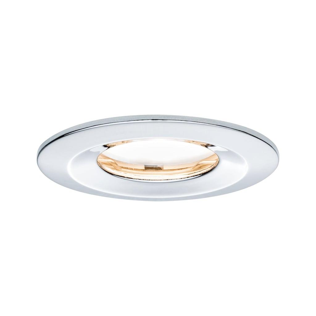 Paulmann LED Einbaustrahler »dimmbar IP65 rund Chrom Coin Slim 6,8W«, 1 St., Warmweiß