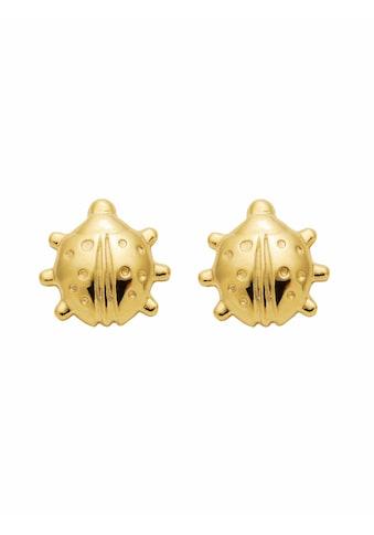 Adelia´s Paar Ohrstecker »333 Gold Ohrringe / Ohrstecker Marienkäfer«, Goldschmuck für... kaufen