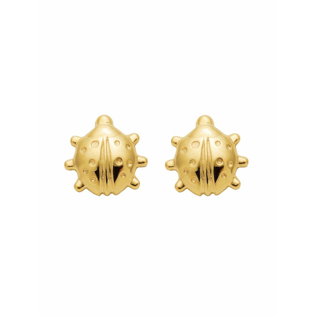 Adelia´s Paar Ohrstecker »333 Gold Ohrringe / Ohrstecker Marienkäfer«, Goldschmuck für Damen