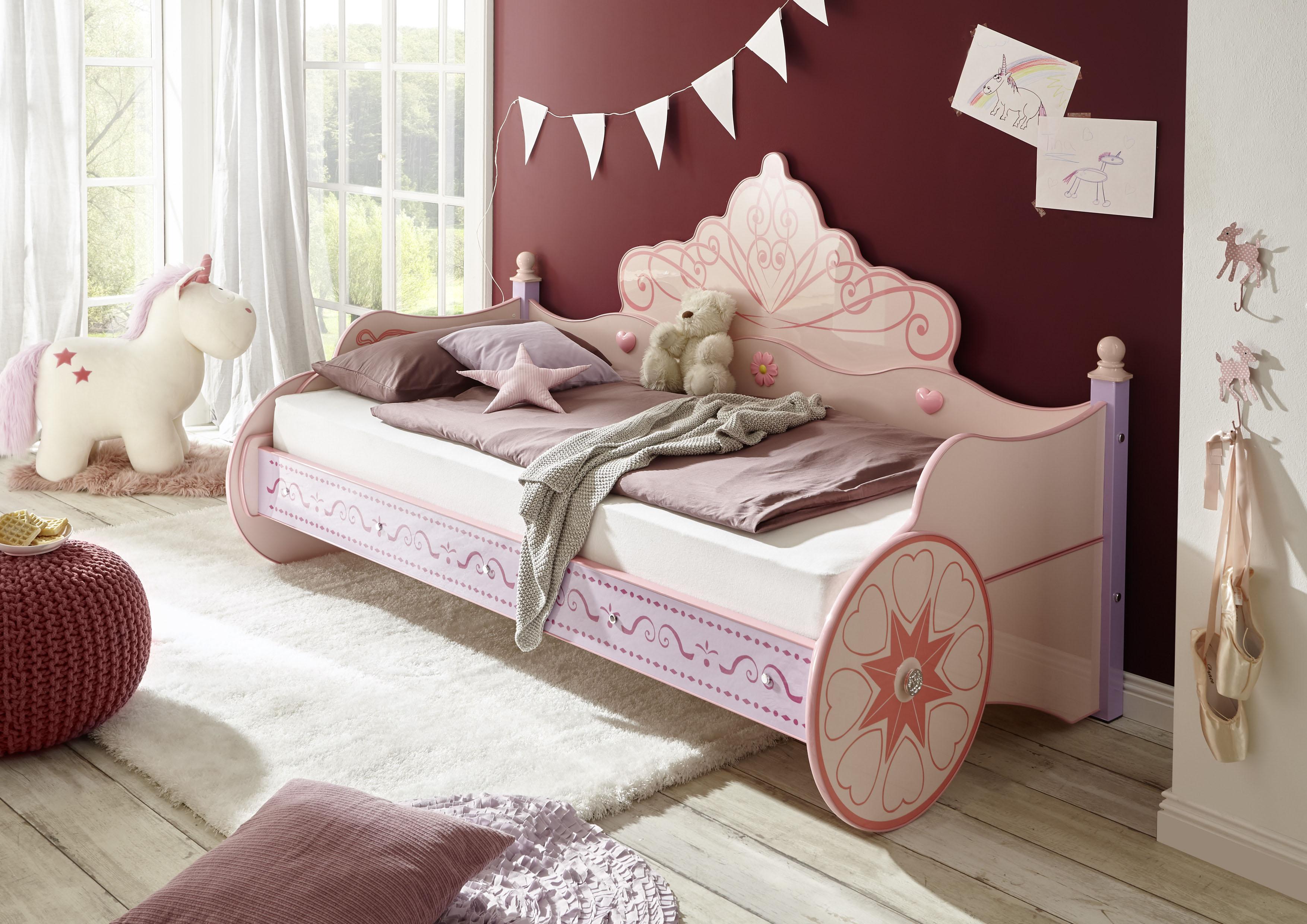 Begabino Kinderbett, für kleine Prinzessinnen rosa Kinder Kinderbett Kinderbetten Kindermöbel