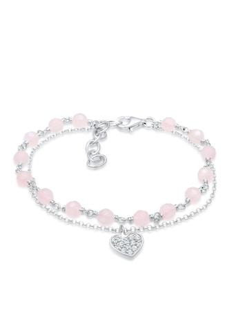 Elli Armband »Herz Kugel Swarovski® Kristalle 925 Silber« kaufen