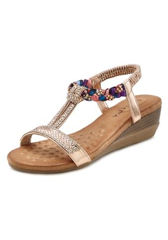 LASCANA Sandalette, mit Gummizug und leichtem Keilabsatz kaufen