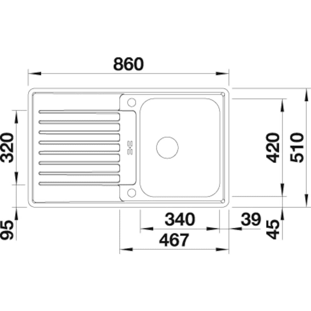 Blanco Küchenspüle »CLASSIC Pro 45 S-IF«