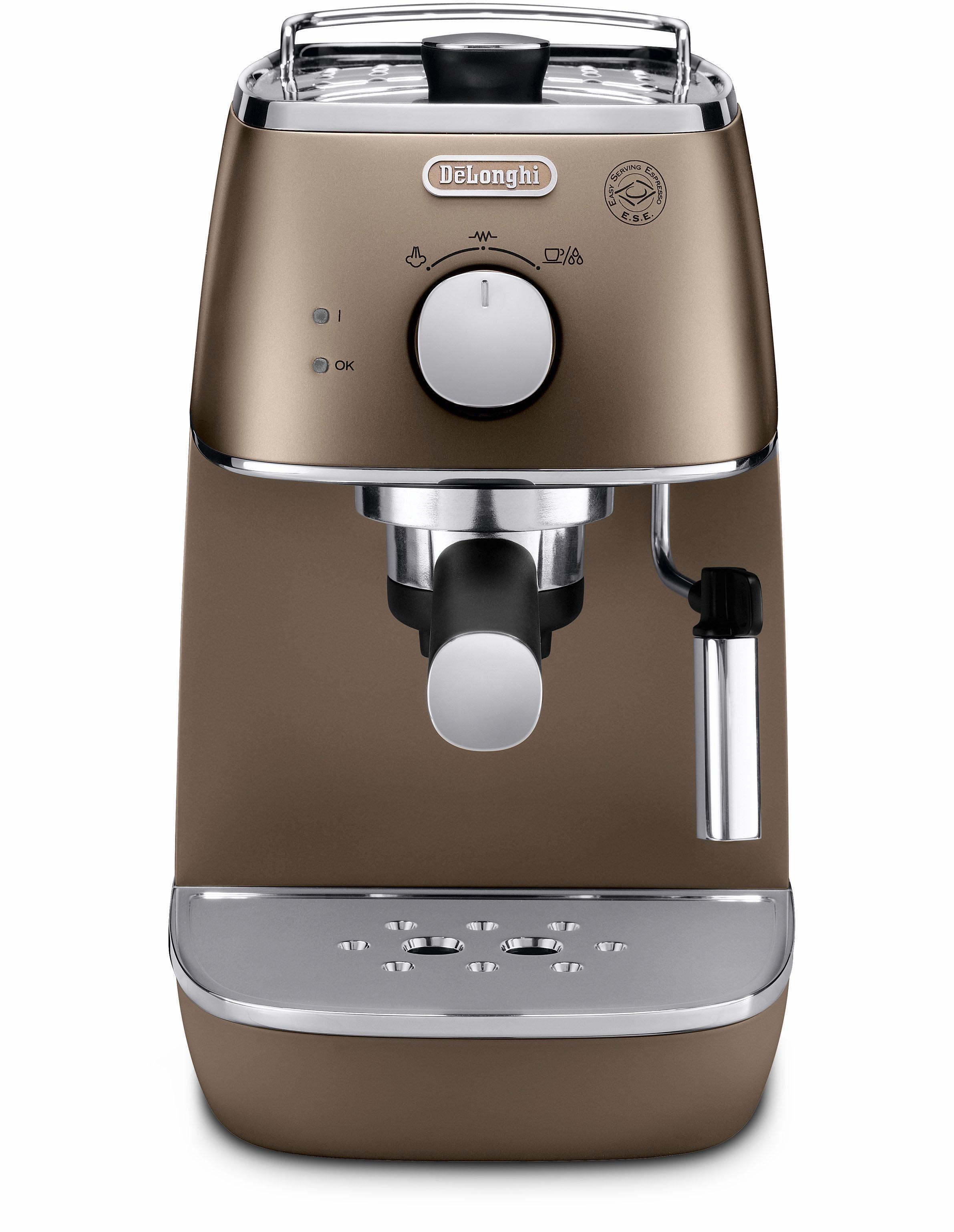 De'Longhi Espressomaschine Distinta ECI 341BZ | Küche und Esszimmer > Kaffee und Tee > Espressomaschinen | Goldfarben | Delonghi