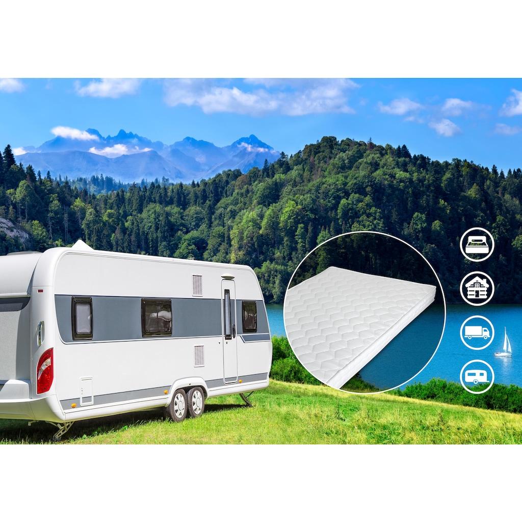 DI QUATTRO Komfortschaummatratze »Matratze Caravan«, (1 St.), Besonders geeignet für Wohnwagen und Wohnmobile, LKW-Kabinen, Ferienwohnungen und als Gästebett