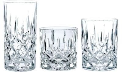 Nachtmann Gläser-Set »Noblesse«, (Set, 18 tlg., Fassungsvermögen: SOF 245ml, DOF 295ml, LD 375ml-Höhe: SOF 8,4cm, WB 9,8cm, LD 14,8cm-Durchmesser: SOF 8cm, DOF 8,2cm, LD 7,7cm), Kristallglas kaufen