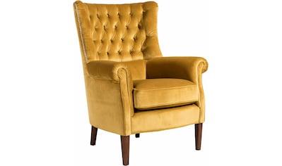 Max Winzer® Chesterfield-Sessel »William«, mit Knopfheftung und Ziernägeln, Hochlehner kaufen