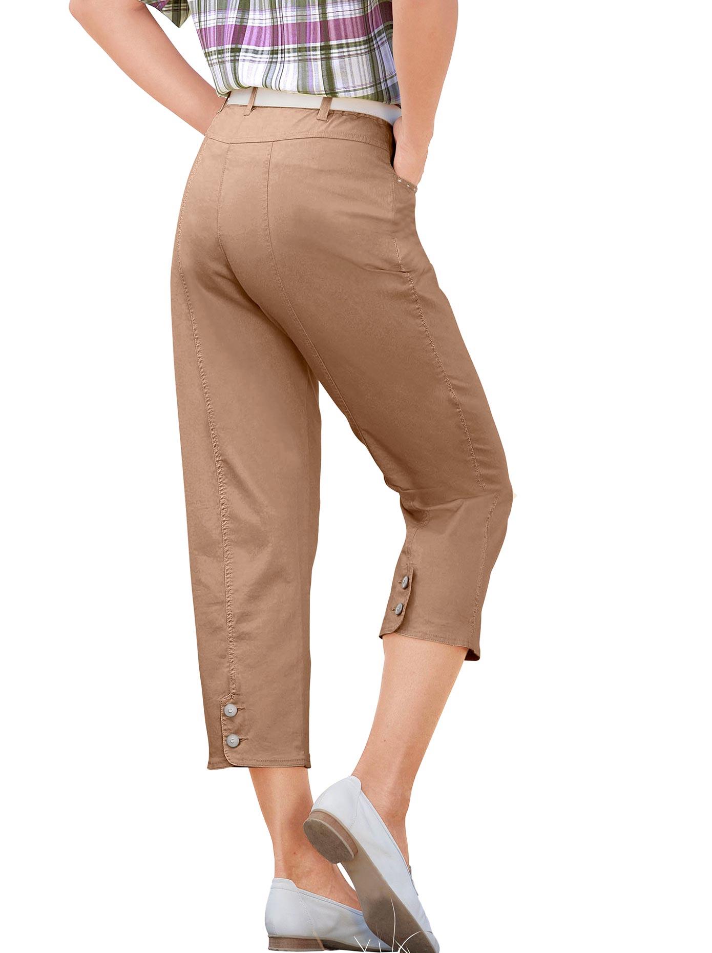 Casual Looks 7/8 Hose mit Schmuckknöpfen   Bekleidung > Hosen > 7/8-Hosen   Braun   Casual Looks