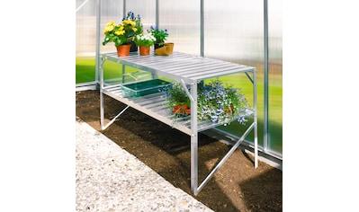 VITAVIA Pflanztisch für Gewächshäuser, BxTxH: 121x54x76 cm, aluminiumfarben kaufen
