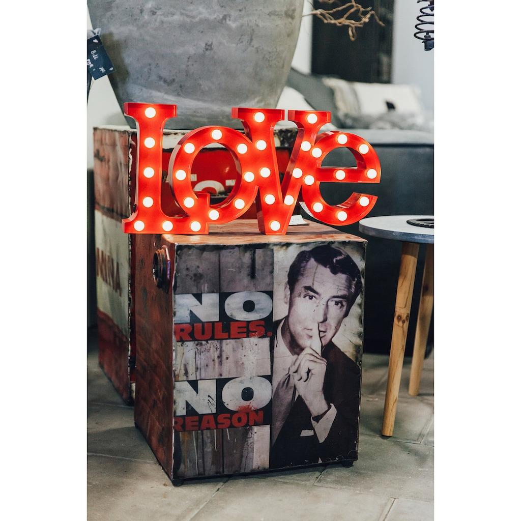 MARQUEE LIGHTS LED Dekolicht »Love Schriftzug«, 1 St., Warmweiß, Wandlampe, Tischlampe Love mit 33 festverbauten LEDs - 64cm Breit und 31cm hoch