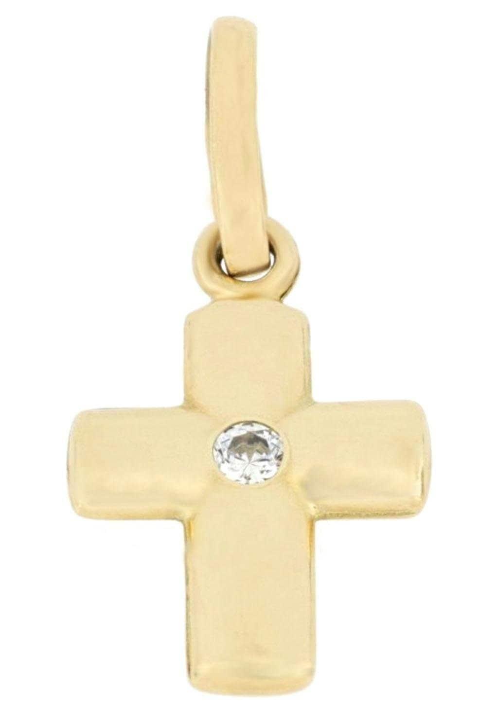 Firetti Kettenanhänger Kreuz glänzend | Schmuck > Halsketten > Kettenanhänger | Goldfarben | Firetti