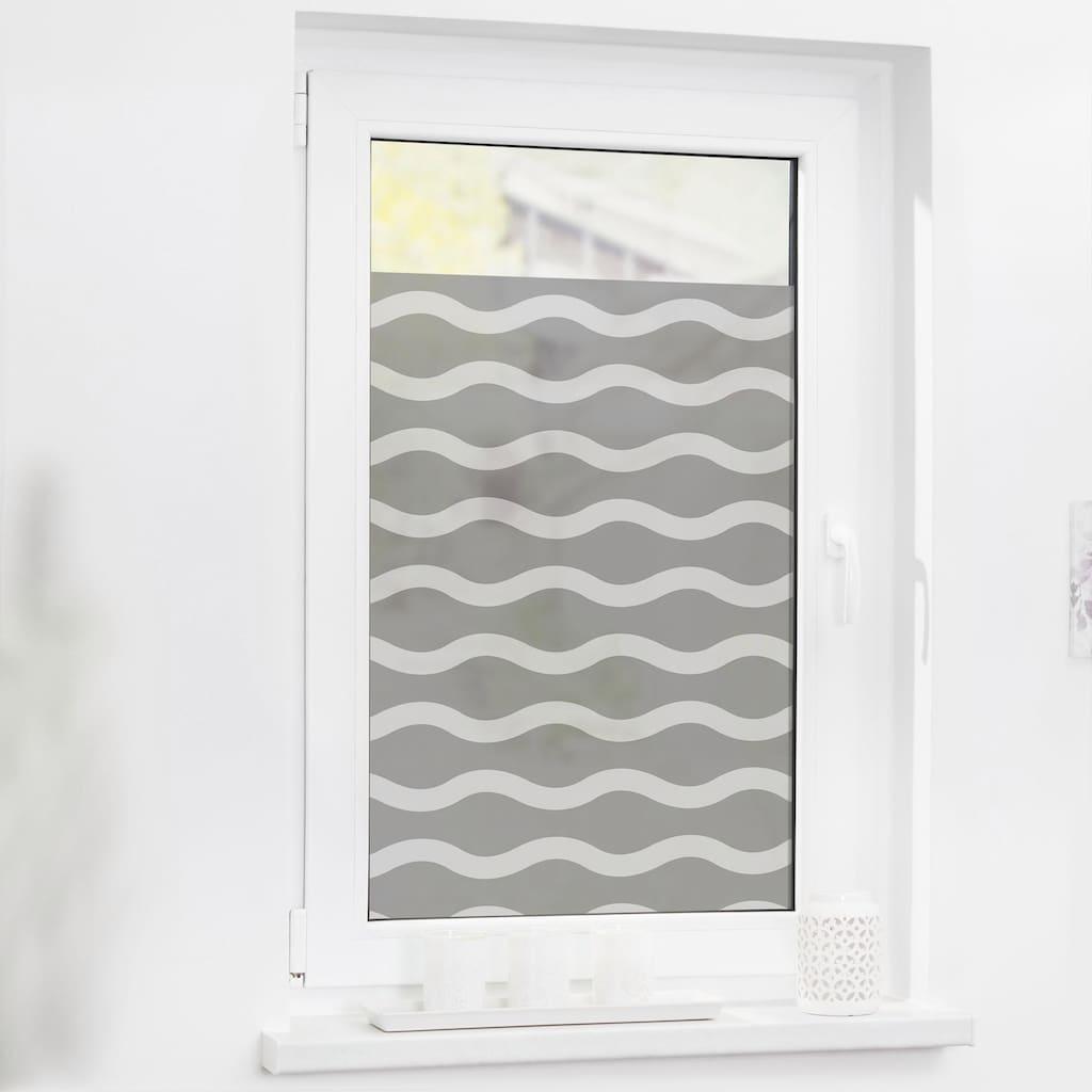 LICHTBLICK ORIGINAL Fensterfolie »Welle«, 1 St., blickdicht, strukturiertKlebepunkte, selbstklebend, Sichtschutz