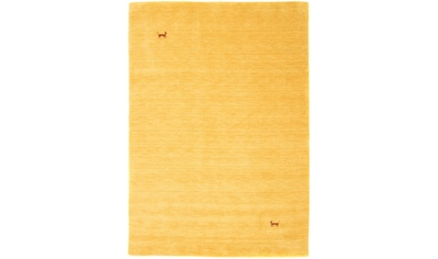 morgenland Wollteppich »GABBEH ASTERIA«, rechteckig, 18 mm Höhe, reine Schurwolle, Uni Tiermotiv, Wohnzimmer kaufen