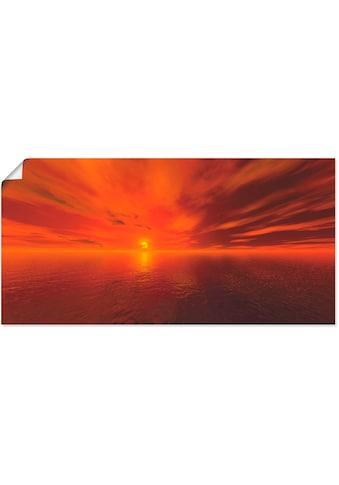 Artland Wandbild »Sonnenuntergang I«, Sonnenaufgang & -untergang, (1 St.), in vielen... kaufen