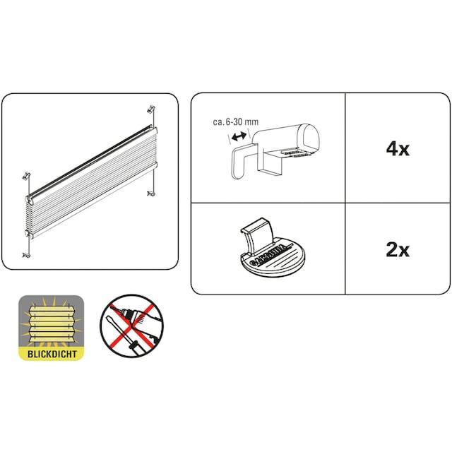 Plissee, »EASYFIX Plissee mit 2 Bedienschienen«, GARDINIA, Lichtschutz, ohne Bohren, verspannt