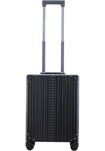 ALEON Hartschalen-Trolley »Aluminiumkoffer Vertical Business Carry-On, 55 cm«, 4 Rollen, inkl. Kabeltasche, Packwürfel und Schutzhülle kaufen