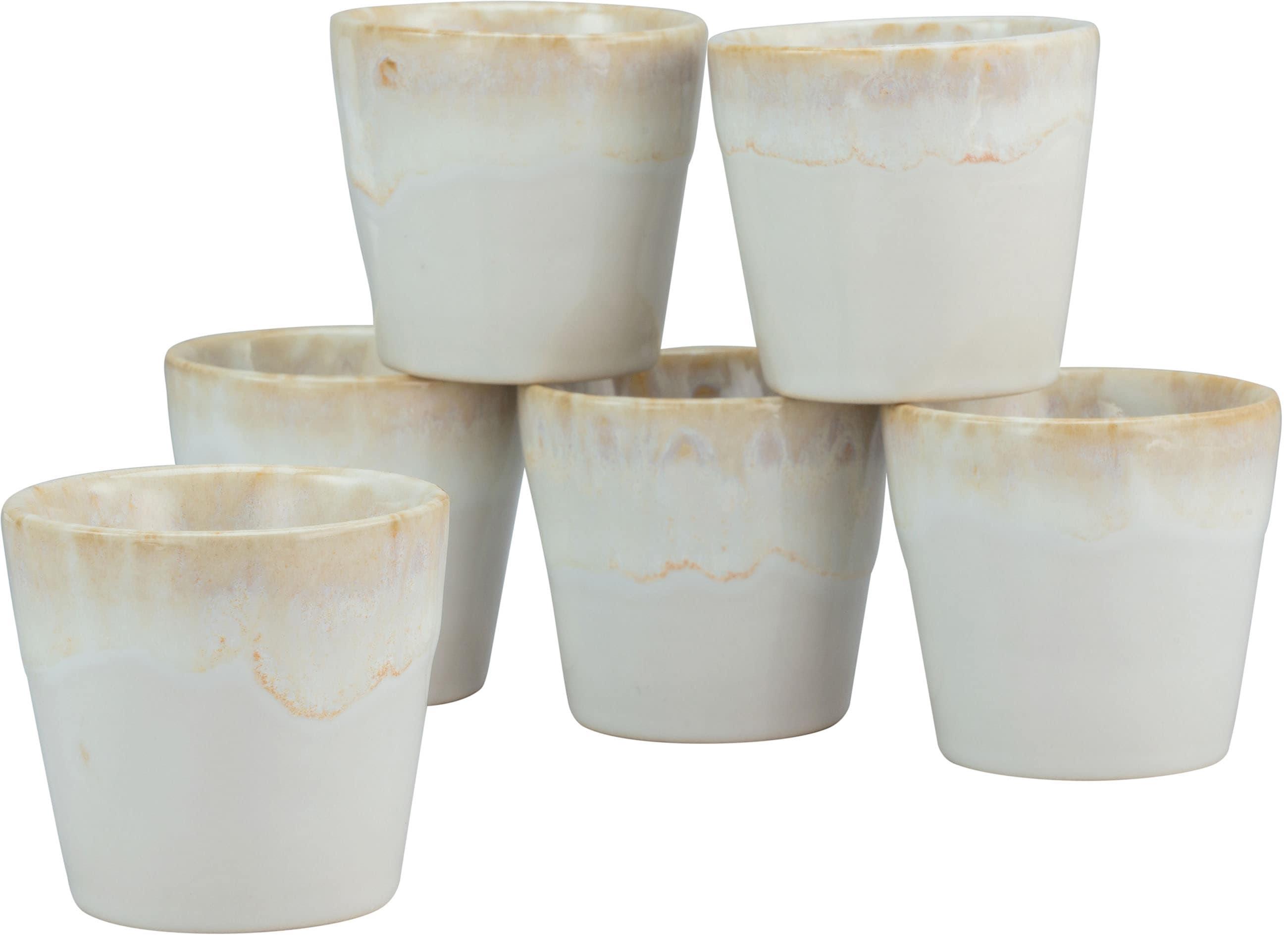 CreaTable Espressotasse Grespresso Espresso, (Set, 6 tlg.), 9 cl, 6-teilig weiß Becher Tassen Geschirr, Porzellan Tischaccessoires Haushaltswaren