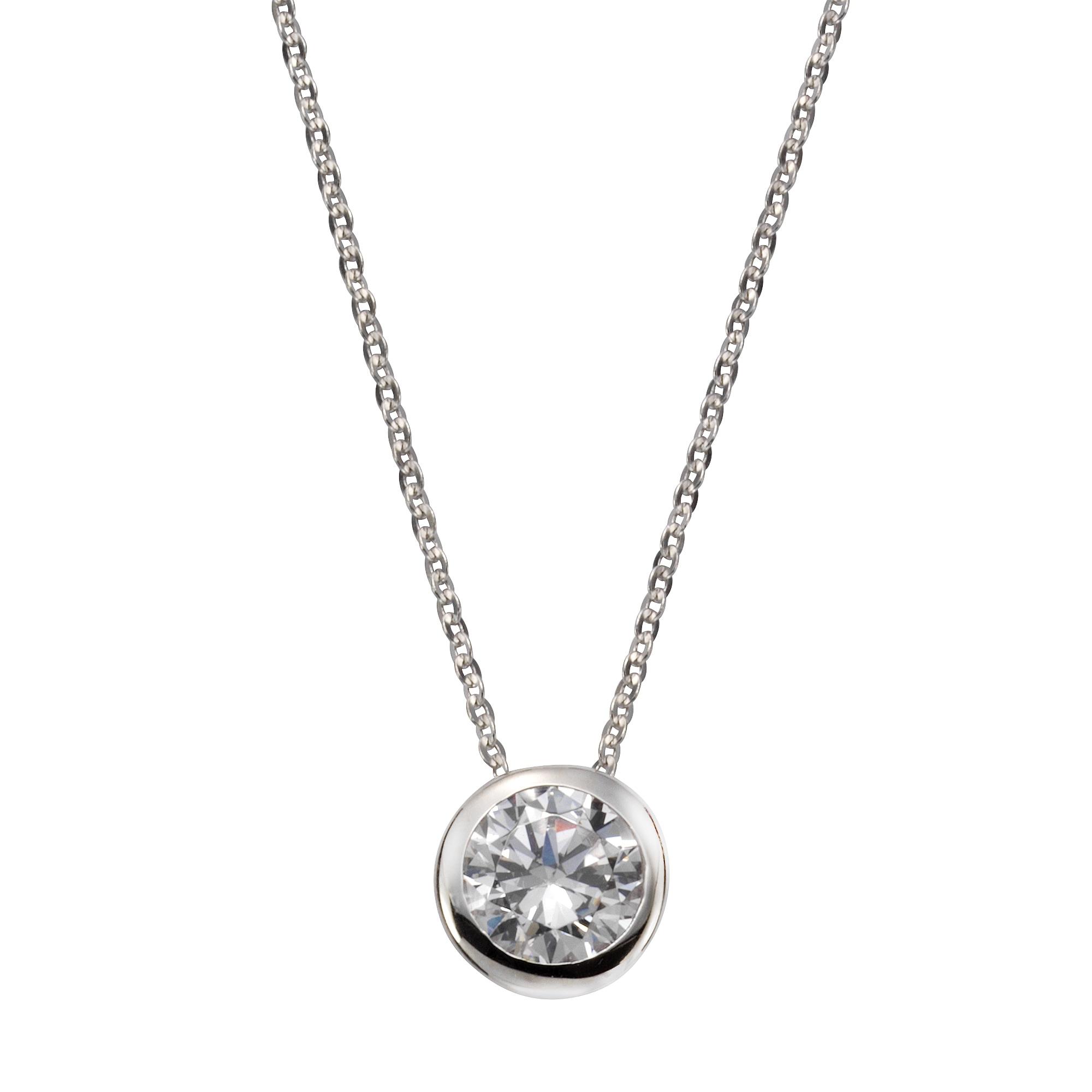 Vivance Anhänger mit Kette 925-/ Sterling Silber Zirkonia   Schmuck > Halsketten > Silberketten   Vivance