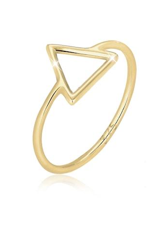 Elli Fingerring »Dreieck Geo Trend Basic 375 Gelbgold« kaufen
