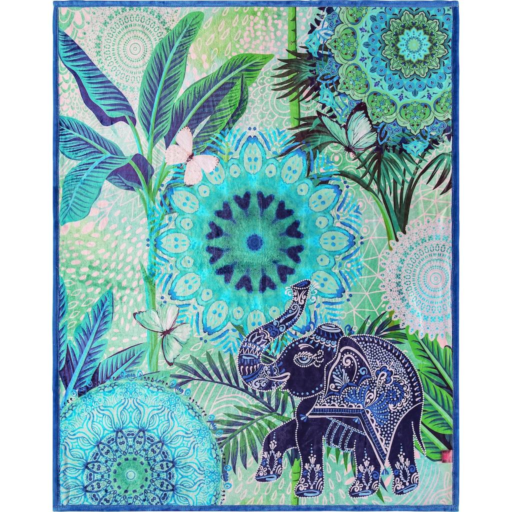 hip Plaid »Isara«, mit Mandalas und Elefant