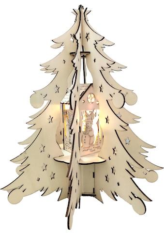 BONETTI LED Dekoobjekt »Holztannenbaum«, Warmweiß kaufen