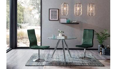SalesFever Essgruppe, (Set, 5 tlg.), mit Glastisch und Drehstühlen kaufen