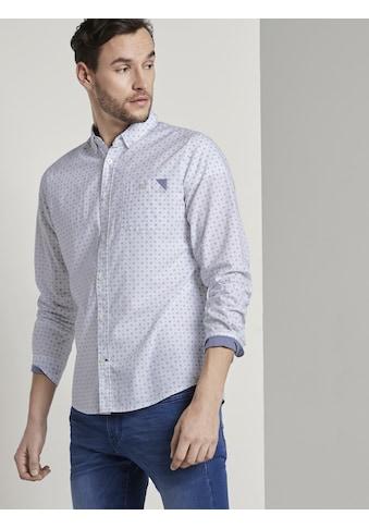 TOM TAILOR Langarmhemd »Gemustertes Hemd« kaufen