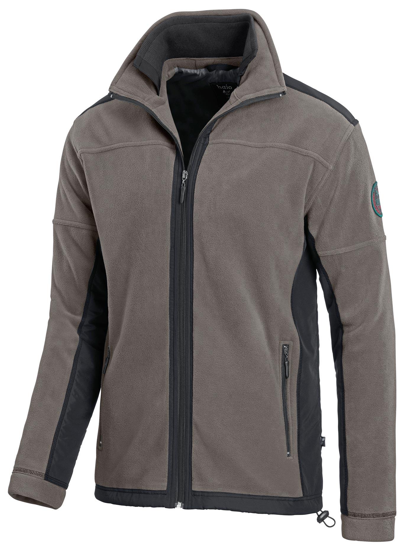 Hajo Fleece-Jacke mit doppeltem Kragen | Bekleidung > Jacken > Fleecejacken | Grau | Hajo