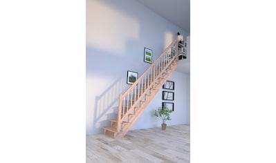 STARWOOD Massivholztreppe »Lindos«, B: 100 cm, gerade Ausführung, Geländer rechts kaufen