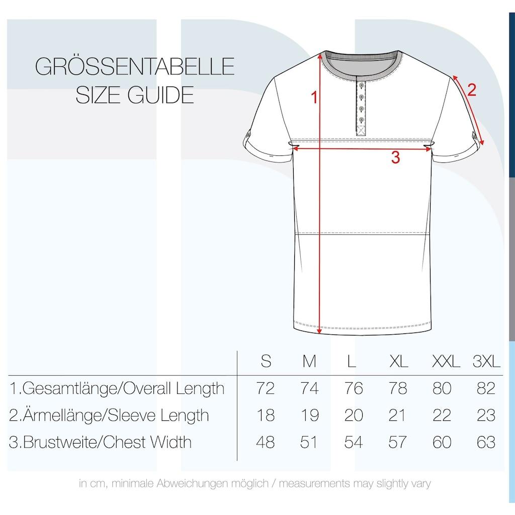 Solid Rundhalsshirt »Marek«, Kurzarmshirt mit Knopfleiste