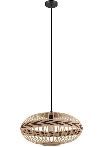 EGLO Hängeleuchte »Dondarrion«, E27, Holzkorb geflochten, Natur, Braun, Vintage, Hygge, Boho, 1-flammig kaufen