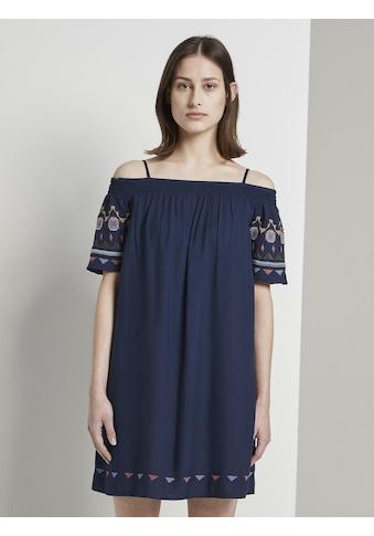 TOM TAILOR Denim Off - Shoulder - Kleid » Off - Shoulder Kleid mit Stickerei« kaufen