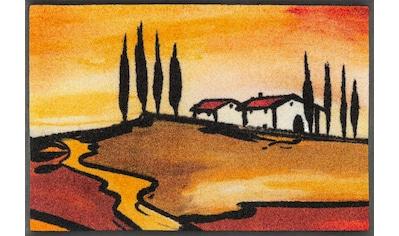 wash+dry by Kleen-Tex Fußmatte »Tuscan Muse«, rechteckig, 7 mm Höhe, Schmutzfangmatte,... kaufen