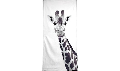 Juniqe Handtuch »Giraffe«, (1 St.), Weiche Frottee-Veloursqualität kaufen