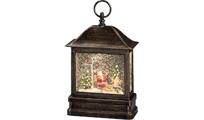 KONSTSMIDE,LED Laterne»Schneelaterne mit Weihnachtsmann und Kind«, kaufen