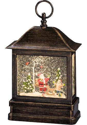 KONSTSMIDE LED Laterne »Schneelaterne mit Weihnachtsmann und Kind«, Warmweiß,... kaufen