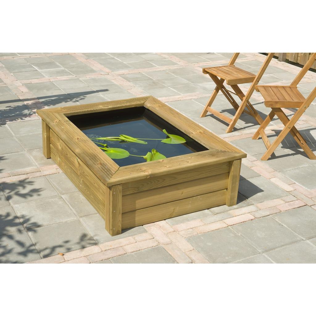 Ubbink Brunnenumrandung »QUADRO Wood I«, für Teichbecken Quadro 5