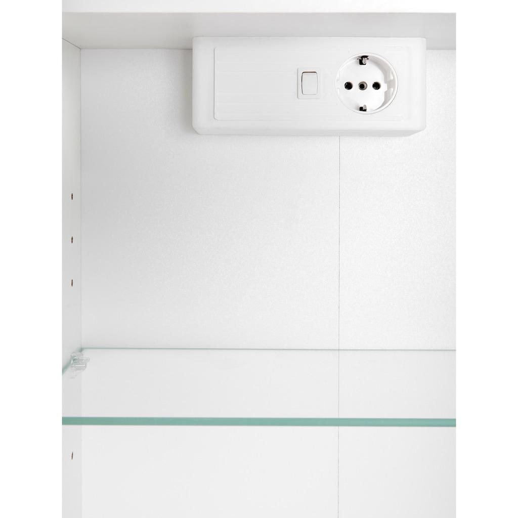 HELD MÖBEL Spiegelschrank »Texas«, Breite 60 cm, mit LED-Aufbauleuchte