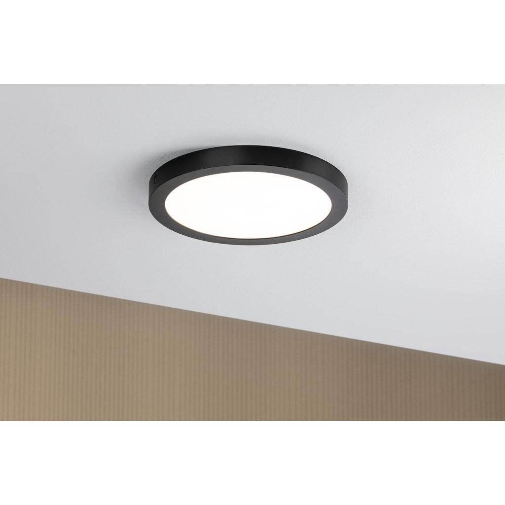 Paulmann LED Deckenleuchte »Panel Abia rund 300mm 22W 2.700K Schwarz matt«, 1 St., Warmweiß