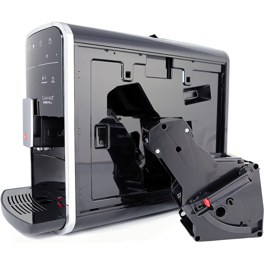 Melitta Kaffeevollautomat Melitta®CAFFEO Barista TS Smart® F85/0-101, silberfarben/schwarz, 1,8l Tank, Kegelmahlwerk