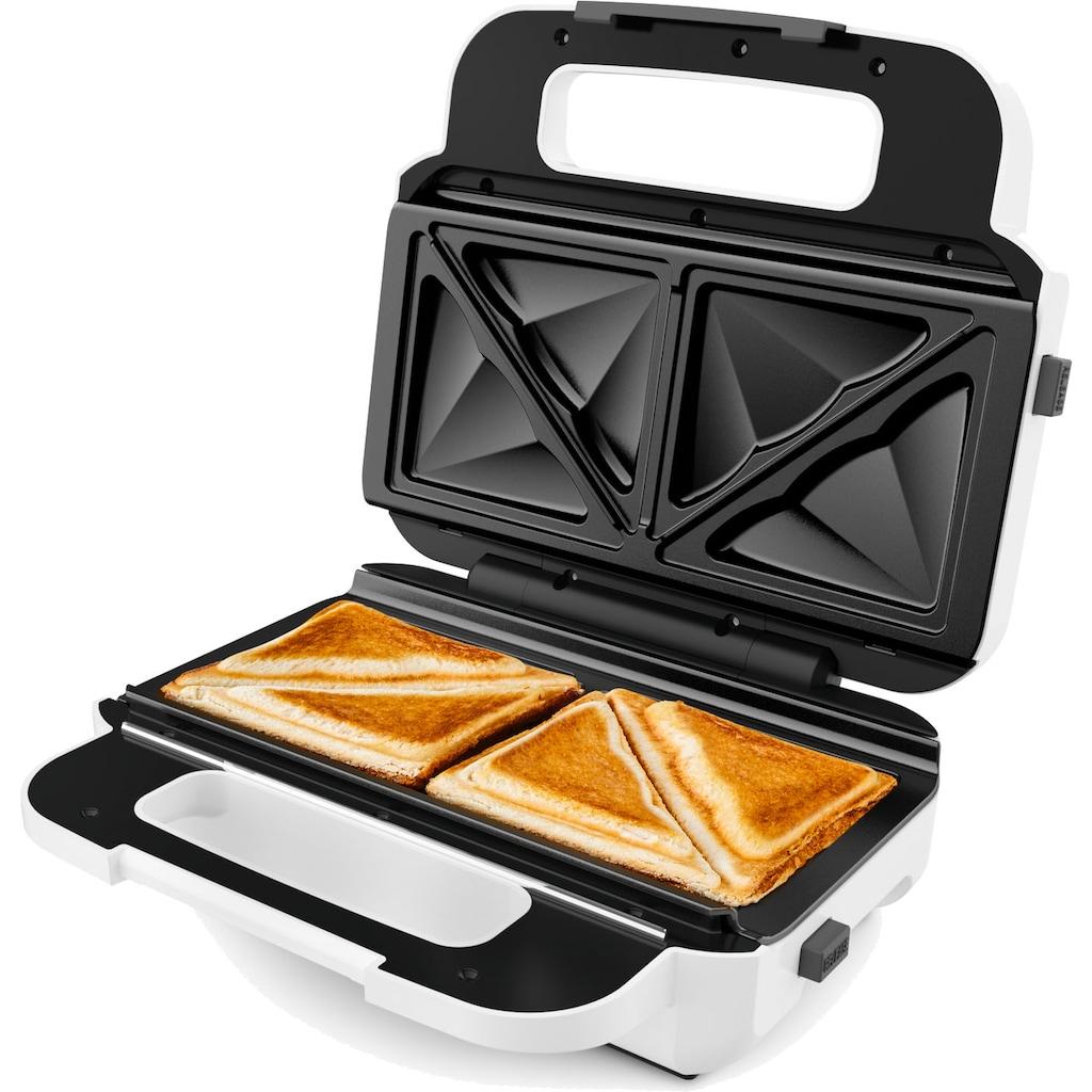 Tefal 2-in-1-Sandwichmaker »SW7011 Snack XL«, 300 W, 2 antihaftbeschichtete Plattensets; Rezeptheft inklusive