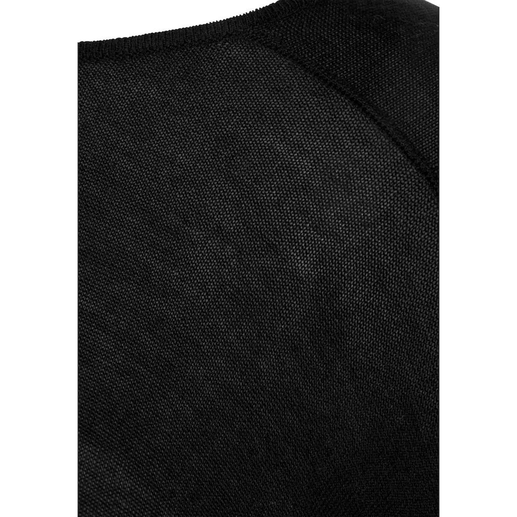LASCANA Strickponcho, aus weicher Viskosemischung