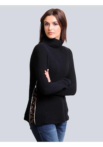 Alba Moda Rollkragenpullover, mit effektvoller Verarbeitung an den Seiten kaufen