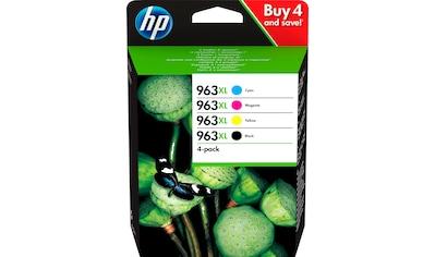 HP »hp 963XL Original Schwarz, Cyan, Magenta, Gelb« Tintenpatrone (4 - tlg.) kaufen