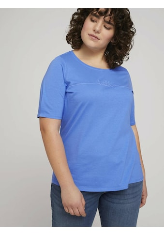 TOM TAILOR MY TRUE ME T-Shirt »Curvy - T-Shirt mit Bio-Baumwolle« kaufen